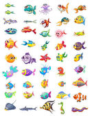 Különböző halak csoportja