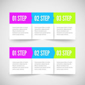 Modern infographic template Flat styled Metro styled
