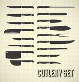 : Vektor kuchyňské nože a příbory