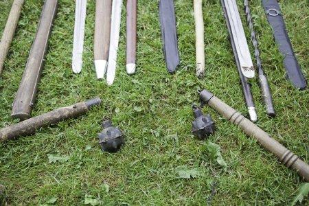 Постер, плакат: Medieval weapons, холст на подрамнике