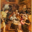Постер, плакат: ANTWERP BELGIUM SEPTEMBER 4: Adoration of pastores by Frans Floris from year 1568 in the cathedral of Our Lady on September 4 2013 in Antwerp Belgium