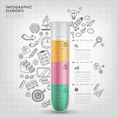 Test tube vector illustration infographic elements design
