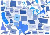 USA Térkép puzzle vázlat