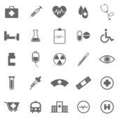 Lékařské ikony na bílém pozadí