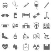 Nemocnice ikony na bílém pozadí