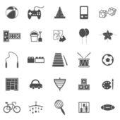 Hračka ikony na bílém pozadí