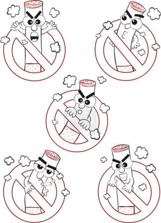 Постер, плакат: Smoking Ban Cartoons, холст на подрамнике