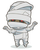 Cartoon running mummy Vector clip art illustration with simple gradients All in a single layer