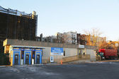 JP Morgan Chase bank branch temporary located at the parking lot during rebuilding after damage by Hurricane Sandy