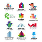 Collection of vector logos construction and home improvement