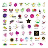 Collection of vector logos for cosmetics beauty salons