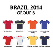 Soccer jerseys set for Spain Netherlands Chile and Australia