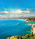View of mediterranean resort, french riviera