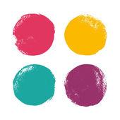 Beautiful color grunge design elements Vector illustration