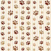 Brown footprints seamless pattern
