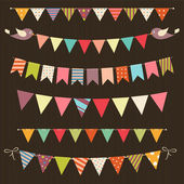 Retro Bunting und Garland set