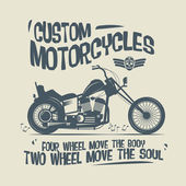 Vintage motocykl popisek nebo plakát