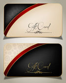 Abstract black gift card Decorative vector background