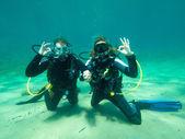 žen potápěči