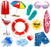 Summer time vector collection elements 1