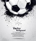 Grunge hintergrund soccer ball
