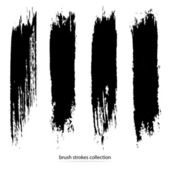 Vector set of grunge brush strokes Black vector brush strokes collection Black paint spots vector set