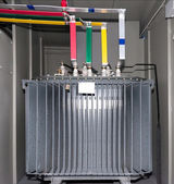 Power transformer in the compartment