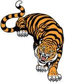 Wütend tiger