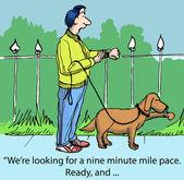Dreißig Minuten zu laufen und zurück zur Arbeit