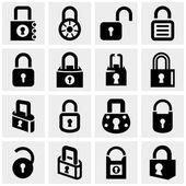 Zámek vektorové ikony na šedé