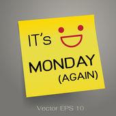 è nota lunedì su carta intestata adesivo giallo. illustrazione vettoriale