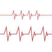 Kardiogramm auf weißem Hintergrund