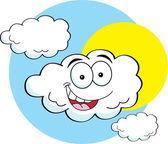 Cartoon illustration of a happy cloud