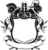 Knight  Shield Silhouette Ornament