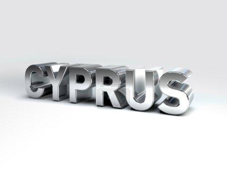 Постер, плакат: 3D Country Text of CYPRUS, холст на подрамнике