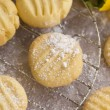 Постер, плакат: Melting moments shortbread biscuits