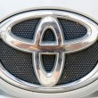 Постер, плакат: Logo of Toyota Altis car on display Toyota Group is best known t