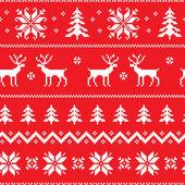 Nahtlose Muster mit klassischen Pullover design