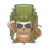 Irish vintage skull