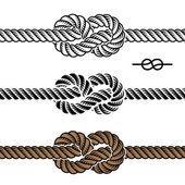 Black rope knot symbols
