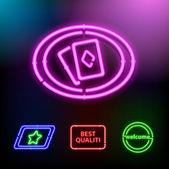 Neon sada vektorové