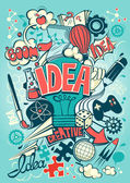 Konceptuální znázornění nápad nebo inspiraci