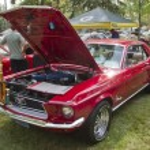 Постер, плакат: 1968 Ford Mustang red