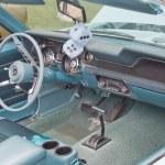 Постер, плакат: 1967 Aqua Ford Mustang Interior & Dice