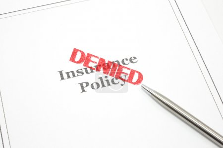 Постер, плакат: Insurance Policy Denied, холст на подрамнике