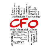 CFO slovo mrak koncepce v nádražáci