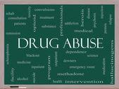 Kábítószerrel való visszaélés szó felhő fogalmát a táblára