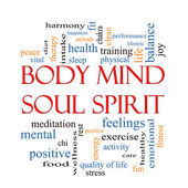 Tělo mysl duše ducha slovo mrak koncepce