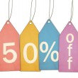 ������, ������: Fifty Percent Off Sale Colorful Tags