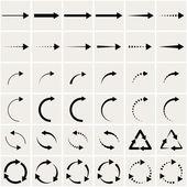 Set of black arrows eps8